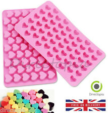 Silicone 55 Small Hearts Chocolate Sweet Cake Ice Cube Baking Mould UK DELIVERY