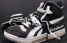 Reebok Commitment Sneakers Shoes Sz 13 Hi Top Strap Lace Up Black White Mens