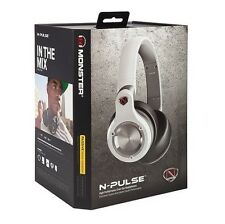 MONSTER N-Pulse passivo del rumore INS. OVER Ear Cuffie con Controllo Talk RRP £ 149