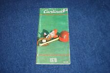ST. LOUIS CARDINALS 1978 MEDIA GUIDE (WB815)