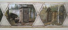 RUSTIC OUTHOUSES COUNTRY  Wallpaper Border 6 ""