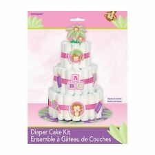 Girl Nappy Cake Kit - Baby Shower Party Decoration Supplies