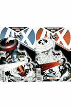 Marvel Comics AVENGERS VS X-MEN Issue ROUND 1 Variant Cover Set Captain America