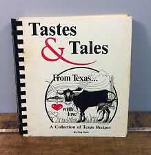 Vintage Tastes and Tales from Texas With Love Cookbook Peg Hein Spiral Bound