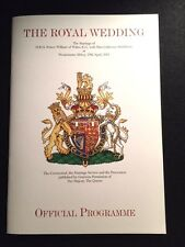 OFFICIAL ROYAL WEDDING PROGRAM Kate Middleton and Prince William