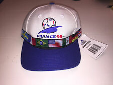 VINTAGE ADIDAS WORLD CUP 1998 SOCCER HAT MULTI FLAG