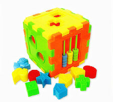 2016 Colorful Block Magic Cube Toys Baby Educational Great Shape Sorting Kid