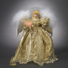 KURT S. ADLER FIBER OPTIC GOLD ANGEL CHRISTMAS TREE TOPPER HOLIDAY CENTERPIECE