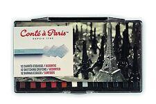 Conté à Paris Boîte de 12 Esquisses Carré Potrait Assorties réf 50150