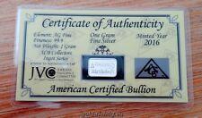 """1 Gramm Silberbarren Geburtstag + Zertifikat """"Happy Birthday"""" (1g Silber Barren)"""
