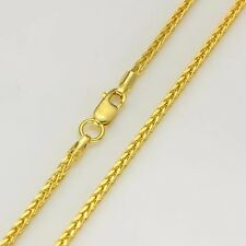 Authentic 18K Yellow Gold Necklace 2mm Wheat Link chain 45cm L
