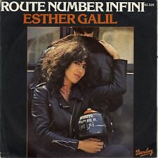 SP 45 tours Esther Galil Route number infini / Demain matin 1977 VG+