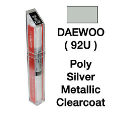 DAEWOO OEM Brush&Pen Touch Up Paint Color Code : 92U - Poly Silver Metallic