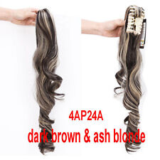 Natural as Real Hairpiece Jaw Ponytail Clip in on Hair Extension Claw Pony tail