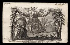 santino incisione 1700 S.ERMELINDA V. NEL BRABANTE  klauber