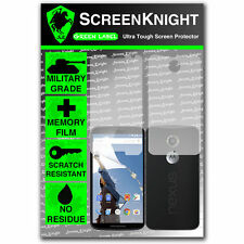 ScreenKnight Motorola Google Nexus 6 FULL BODY SCREEN PROTECTOR invisible shield