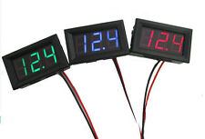 Red Mini DC 2.5-30V LED Panel 3-Digital Display Two Wires Voltage Voltmeter