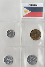 FILIPPINE PHILIPPINES SET OF 4 COINS CIRCULATED GOOD CONDITION 1 - 5 - 10 - 25