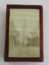 RARE ANTIQUE BOX WITH ATTACHED PHOTOGRAPH OF ST JAMES CHURCH LOUTH LINCOLNSHIRE