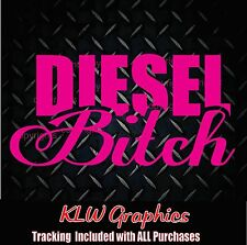 Diesel B*tch * Vinyl Decal Sticker Girly Funny Car Truck Window Euro 2500 3500