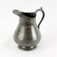 Antique Ornate Pewter Pouring Jug - Good Condition