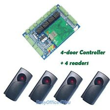 Best Quality Intelligent Access Control Panel 4door+Free software+4 RFID Readers