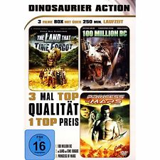 3 Actionfilme - The Land that time forgot & Princess of Mars & 100 Million BC