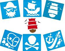 New 6 Pack Pirate Stencils Arts Crafts Painting Kids Toy