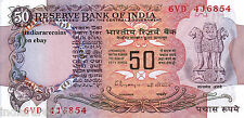 INDIA 50 RS P 84 Rangarajan A Inset Lion Ashoka Paper Money Currency UNC NEW