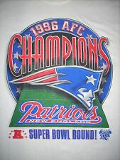 New England Patriots 1996 AFC Champions Vintage T-Shirt XL Super Bowl Bound Rare