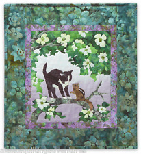 Art Quilt Pattern ~ WIND IN THE WHISKERS -THE LOCAL BRANCH ~ Block 4 PINENEEDLES