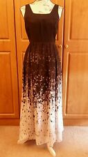 Precioso sin mangas Maxi vestido de seda por M&S Limited Collection Talla 12 BNWOT