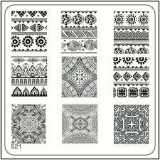 MoYou Nail Fashion Square Stamping Image Plate 521 Ethnic Style