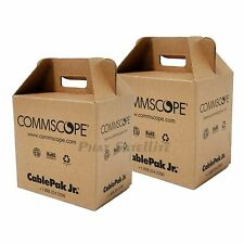 2 x 500' RG6 Coaxial Coax RG6 Cable 1000ft BULK PAYOUT PULL BOX COMMSCOPE RG-6