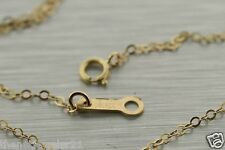 14k Yellow Gold chain for pendant 18 Inch