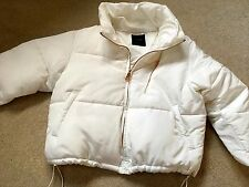 ZARA LADIES WHITE BNWT COAT JACKET PUFFER PADDED DOWN QUILTED SIZE XS 6/8