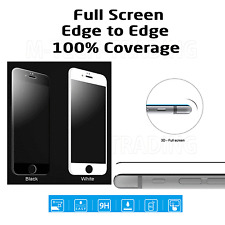 FULL 3D Tempered Glass Screen Protector For Apple iPhone 7 White