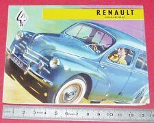 DEPLIANT BROCHURE PUBLICITE REGIE RENAULT 4 CV 1958 AUTOMOBILE AUTO SPORT
