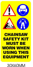 Pictogram Label Warning Chainsaw Sticker Safety Images Suitable For HUSQVARNA