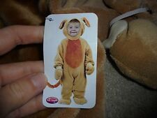 NWD boy or girl Halloween costume brown playful puppy dog WARM costume 6-12 mo