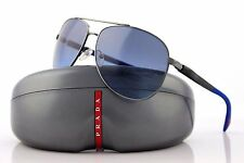 RARE NEW Netex Collection PRADA Mens Aviator Blue Sunglasses SPS 51O 5AV 5I1