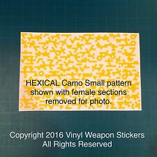 HEXICAL Camo SMALL PATTERN Vinyl Stencil, For Duracoat, Cerakote, Krylon, New!