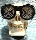 Mad Scientist Costume CRAZY HYPNOTIC GOGGLES GLASSES Halloween Cosplay Steampunk