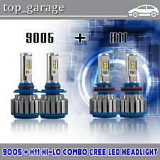 9005+H11 Cree 140W 14400LM Combo LED Headlight Kit 6000K High Low Beam Bulb 2017