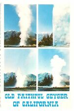 Old Faithful Geyser California Postcard Mt St Helena #3 Napa Valley Vtg Unposted