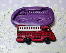 Silicone Mold Fire Engine Mould (38mm) Cupcake Topper Dollhouse Clay Jewelry
