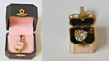 JUICY COUTURE 2007 Pink Box Charm with Puff Heart Shaped Crystal Inside YJRU2618