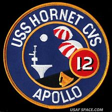 "APOLLO 12 - RECOVERY SHIP - USS HORNET CVS-12 -  5"" PATCH - MINT *****"