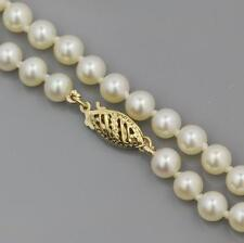 AAA GRADE FRESHWATER CULTURED PEARL NECKLACE 9CT GOLD CLASP