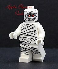 NEW Lego Monster Fighters MUMMY MINIFIG - Halloween White Gray Zombie Head 9462